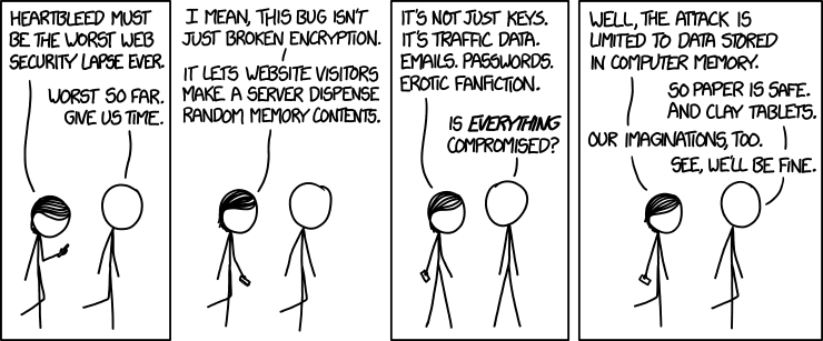 xkcd comic about heartbleed